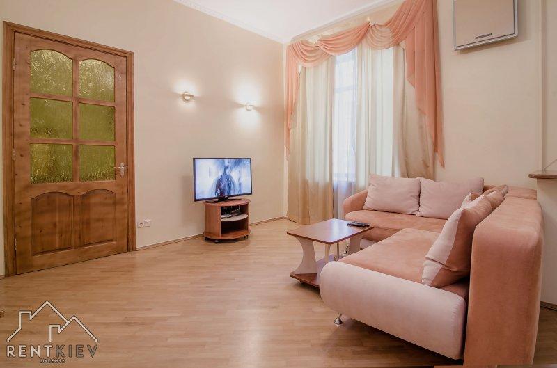 Зал с раскладным диваном.