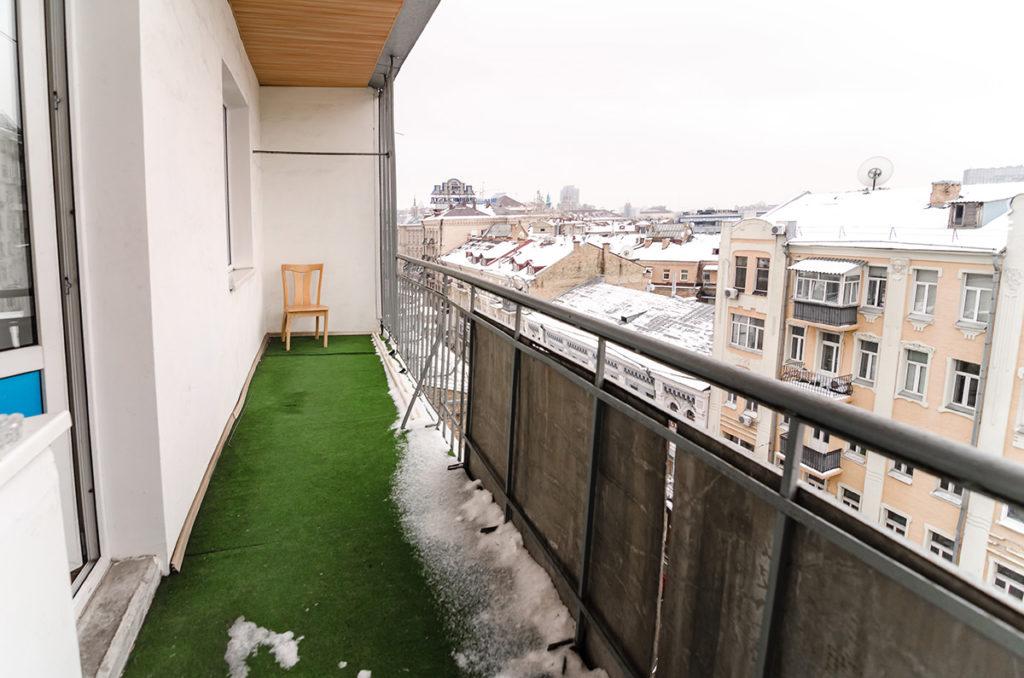 Балкон, с видом на Майдан Незалежности.